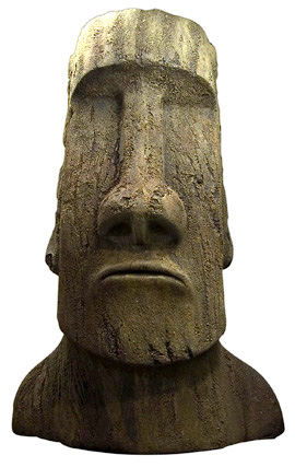 Giant Heads Of Easter Island